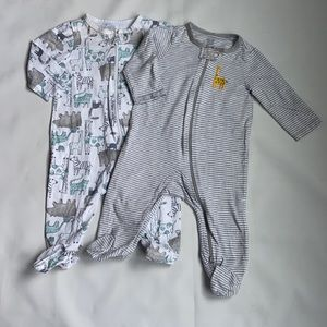 Carters Baby Pajamas footies size 6 months